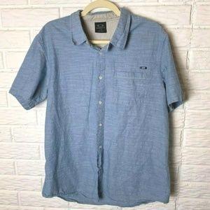 😊 Oakley Shirt Size Large Short Sleeves Cotton